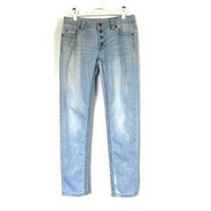Miss Me Jeans Mid-Rise Skinny Marks/Bleach 31x28.5